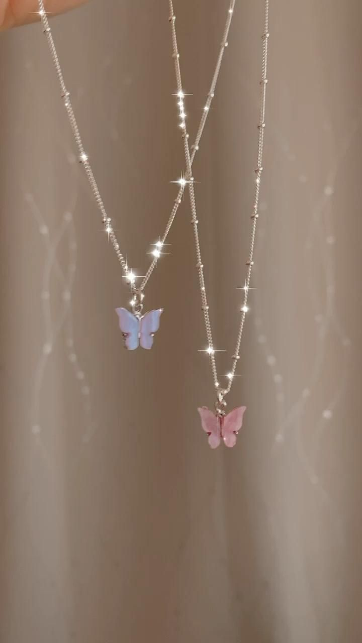 Butterfly necklace, 925 Sterling Silver Necklace,