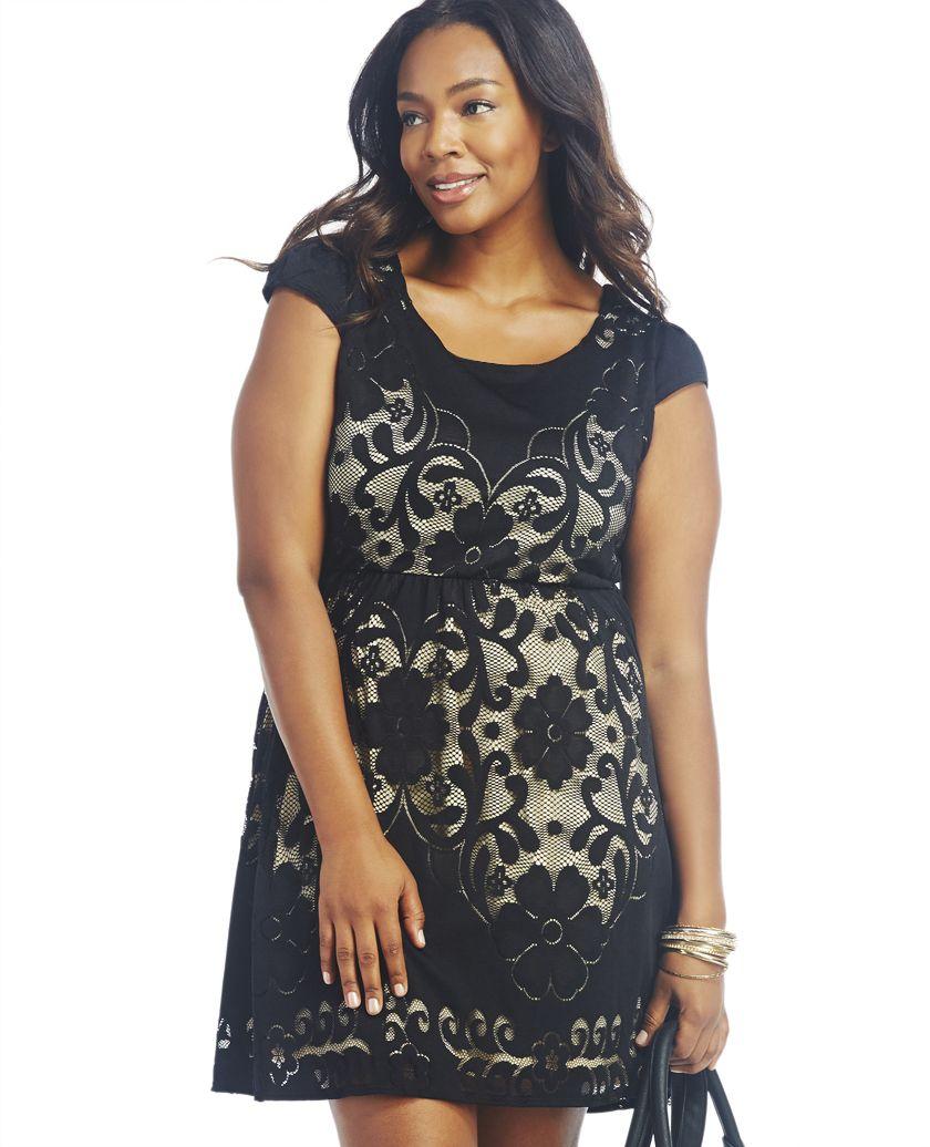 Romantic Floral Lace Dress | Wet Seal Plus | Plus size ...