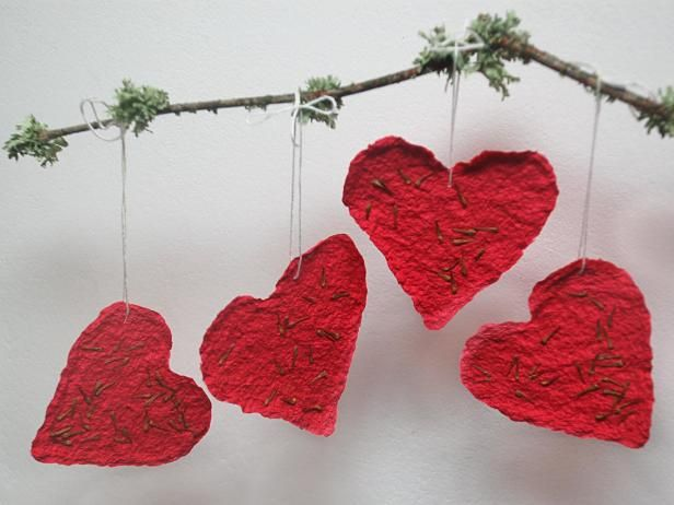 Give your sweetheart the gift of a garden with an easy craft for making plantable Valentine's Day cards with your favorite flower seeds.