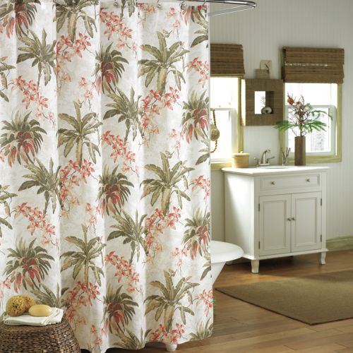 Designer Fabric Shower Curtains Tropical | Home Decoration Club ...
