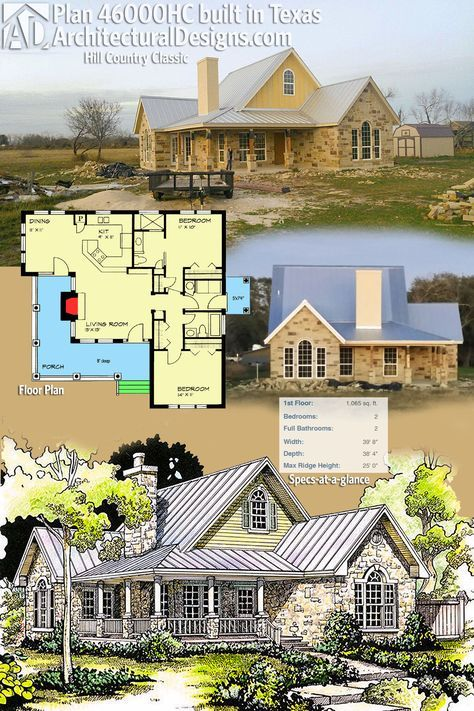 Plan 46000hc Hill Country Classic Country House Plans Hill Country Homes Limestone House