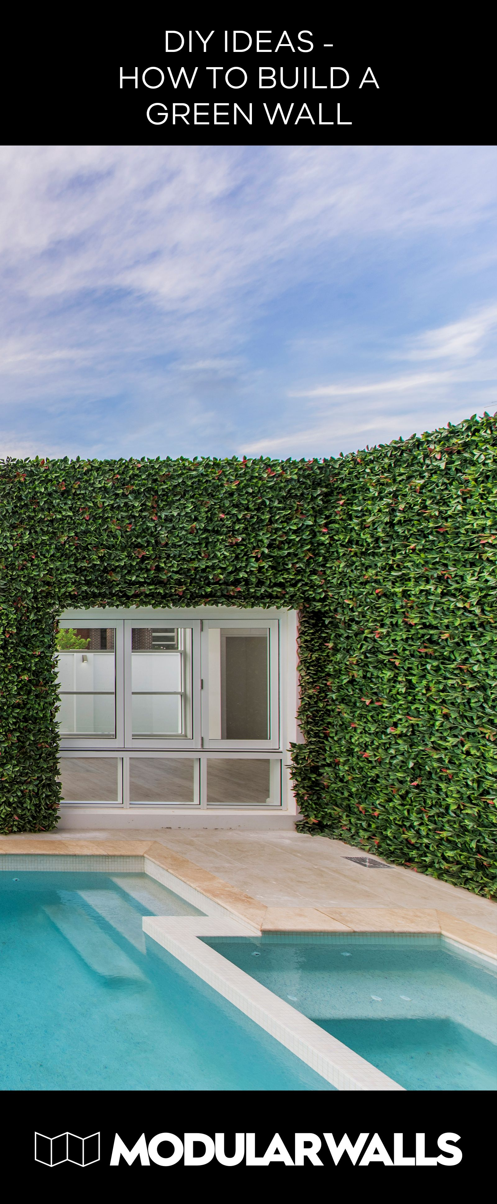 Diy ideas how to build a green wall modularwalls