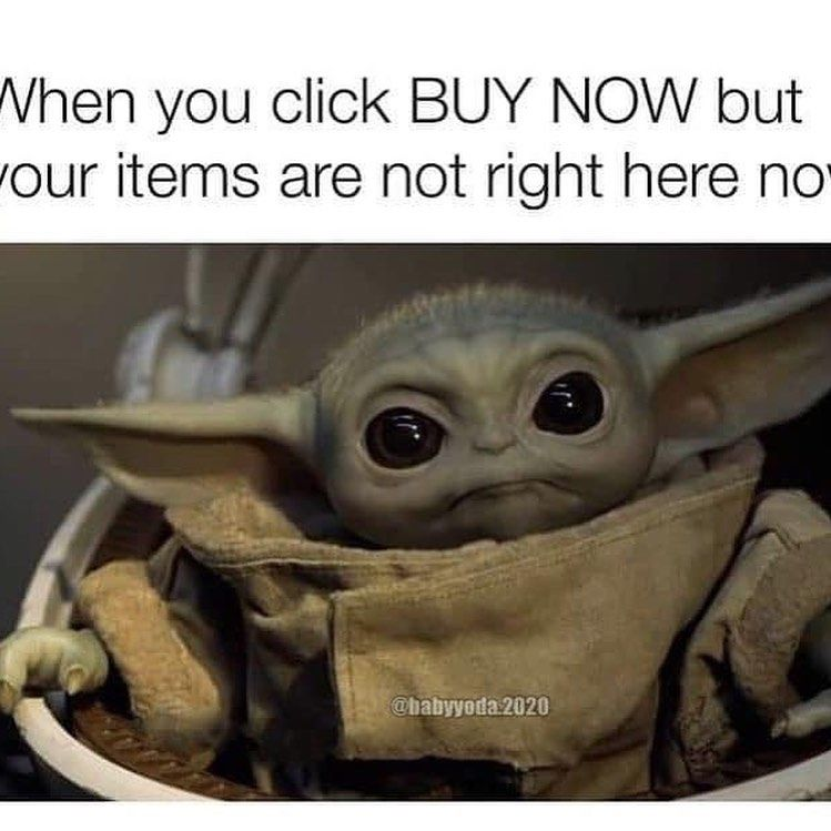 Csf On Instagram Don T Worry Sweet Boy I Ship Fast You Ll Be Home In No Time Babyyodaedit Babyyoda Handmade Sewi Yoda Meme Yoda Art Star Wars Memes