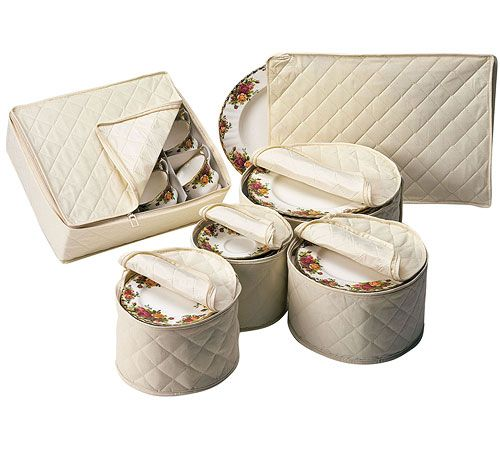 Delicieux Protect Your Delicate China When It Is In Storage By Storing Them In This  Quilted Polyester Fabric China Storage Set.