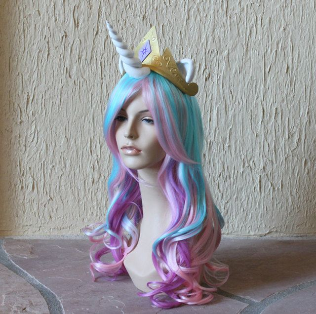 Because what furry/My Little Pony cosplayer wants to wear a wig and a SEPARATE unicorn horn Etsy seller GimmCat is selling wigs with pre-attached horns.  sc 1 st  Pinterest & Because what furry/My Little Pony cosplayer wants to wear a wig and ...