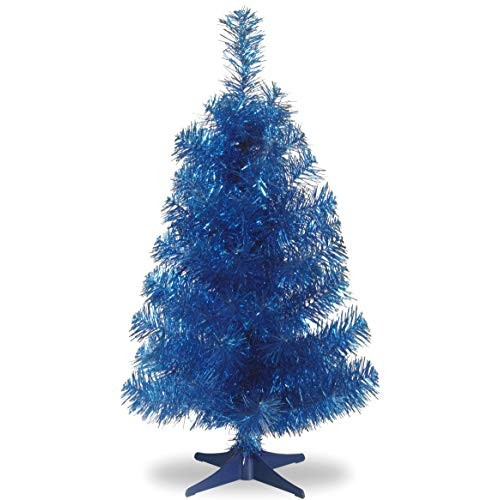 Home Decor 13 Blue Christmas Tree Amazing Amazon Com Throughout 24 Blue Christmas Tree Flocked Blue Blue Christmas Tree Unlit Christmas Trees Christmas Tree