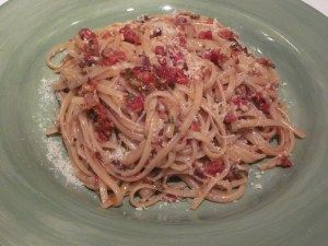 Linguine with Sun-Dried Tomatoes, Olives, and Lemon...such a simple meal, perfect for a weeknight!