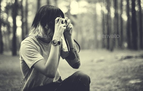 Asian Photographer Taking Pictures Outdoors Concept By Rawpixel