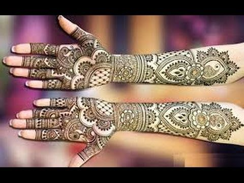 Arabic Bridal Mehndi Designs Front and Back