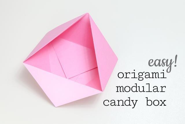 Easy Origami Candy Box Tutorial - DIY - Paper Kawaii - YouTube | 427x640