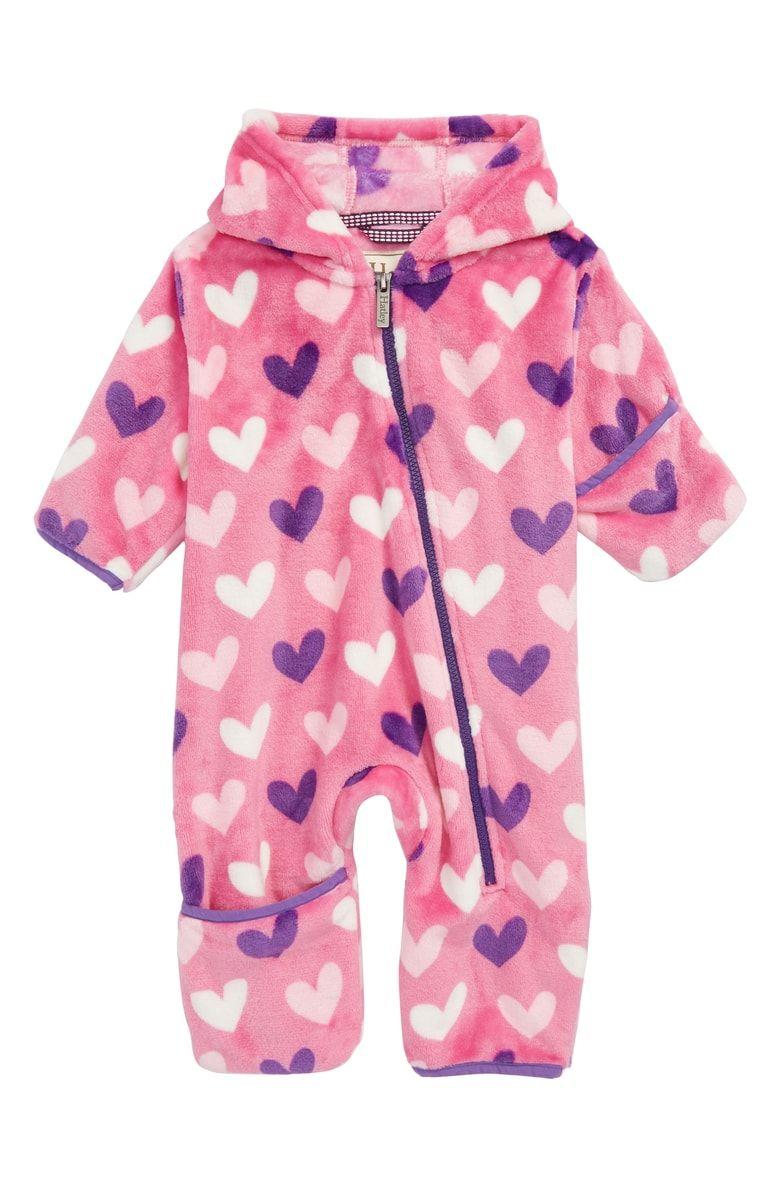 0aaa1cd334f3 Hearts Fuzzy Fleece Bundler Hooded Snowsuit