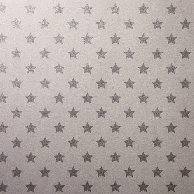 Papier peint papier sur papier Duplex étoile gris argent   Castorama ...