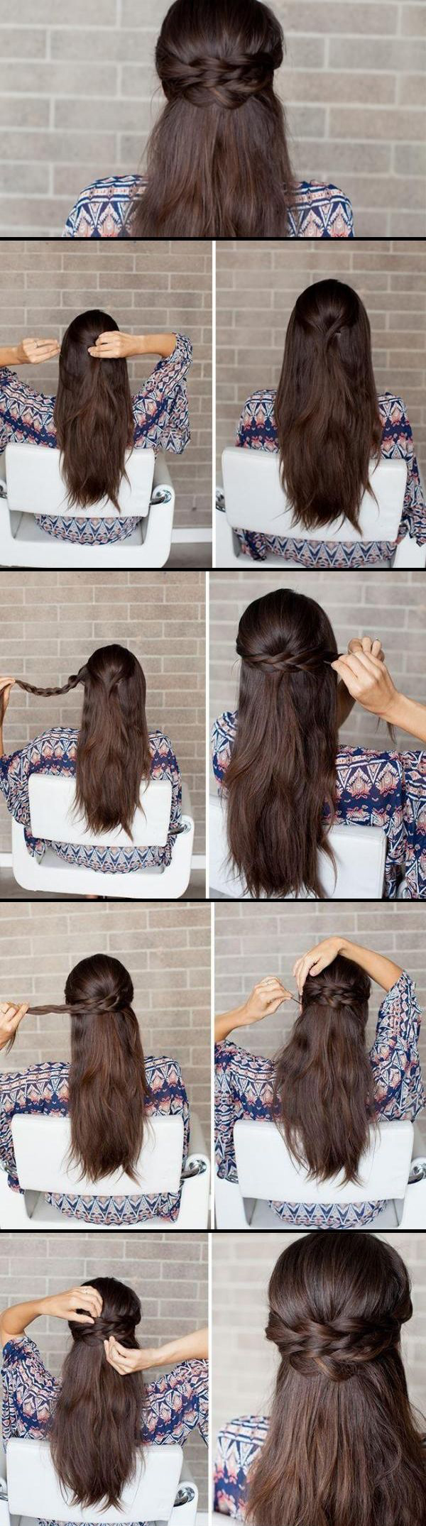 Such an easy but cute hair tutorial need to try this tonight