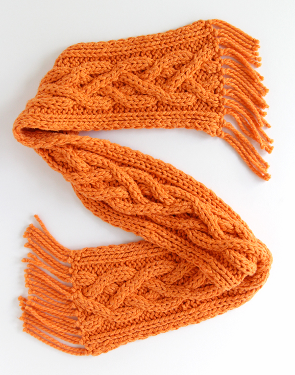 Quad Cable Knit Scarf Pattern Pinterest Knit Scarf Patterns