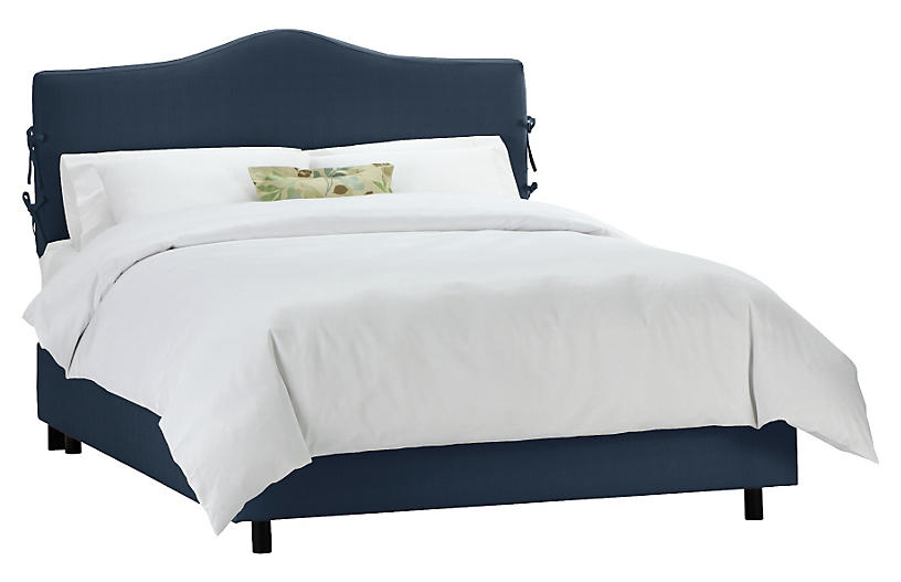 Eloise Slipcover Bed Navy Headboards For Beds Upholstered