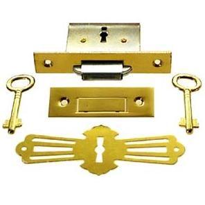 Brass Square Roll Top Desk Lock Skeleton Keys Roll Top Desk