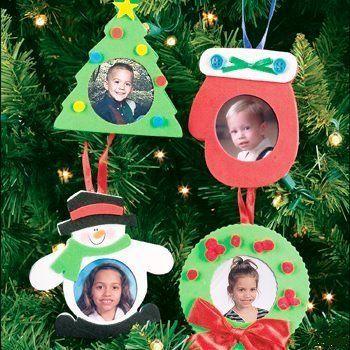 adornos portaretrato Entrada, Motivos navideños y Manualidades niños