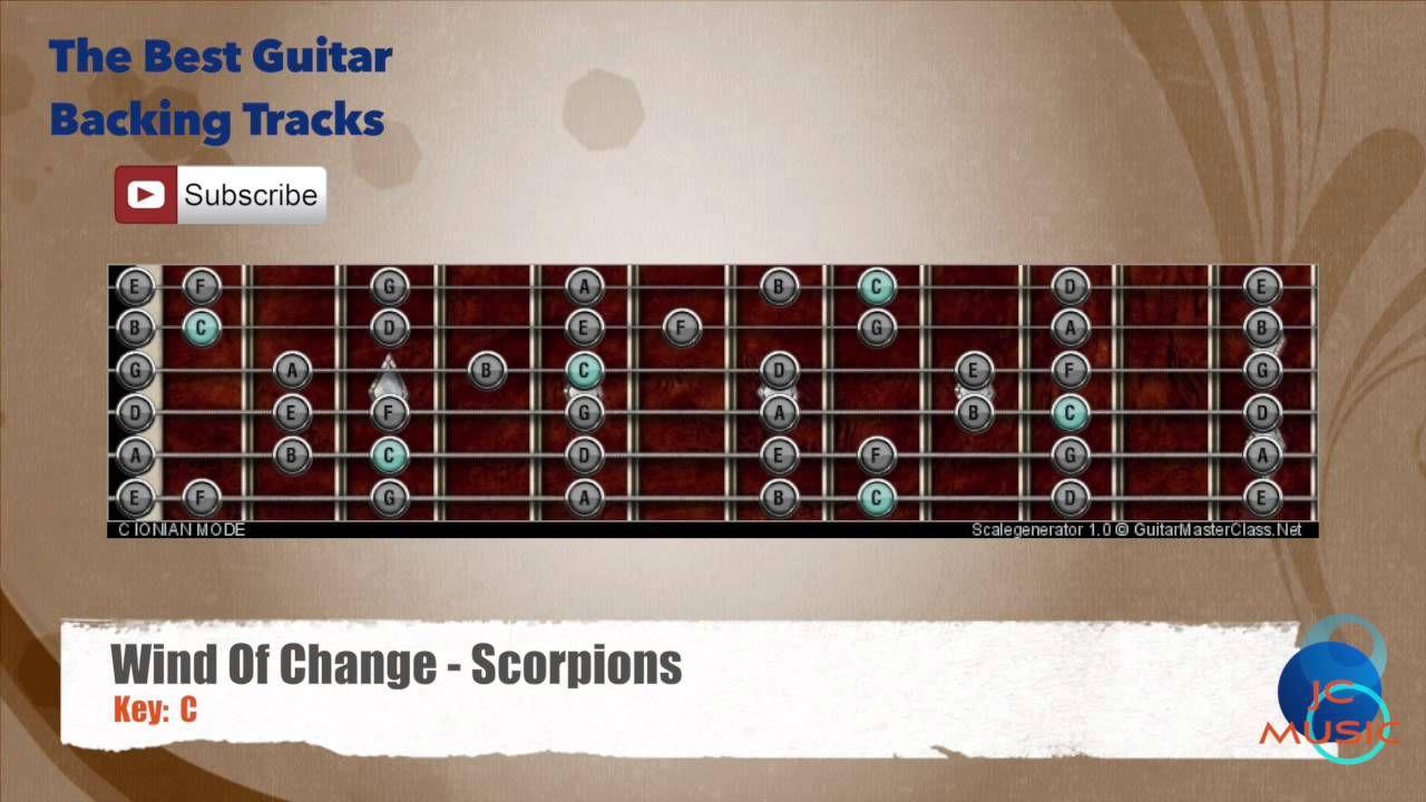 Wind Of Change Scorpions Guitar Backing Track With Scale Chart Guitaar Van Halen