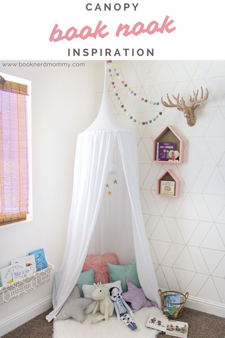 Canopy Book Nook Reveal Reading Nook Toddler Reading