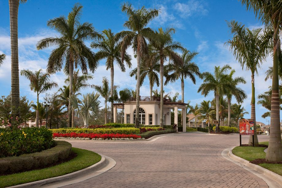 Gated Community Entrance Gated Community Entrance Gated Community Florida Homes For Sale Driveway Landscaping