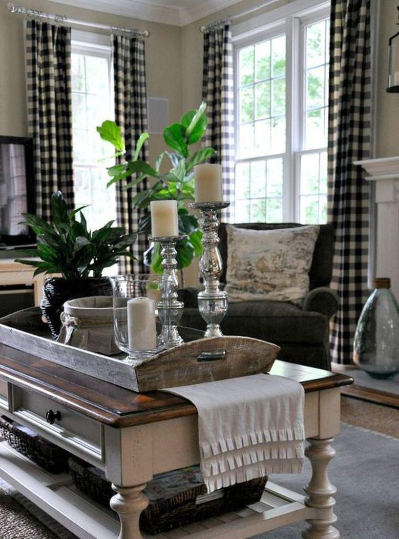 stunning farmhouse style decoration and interior design ideas 70 salon rustique maison noire renovation