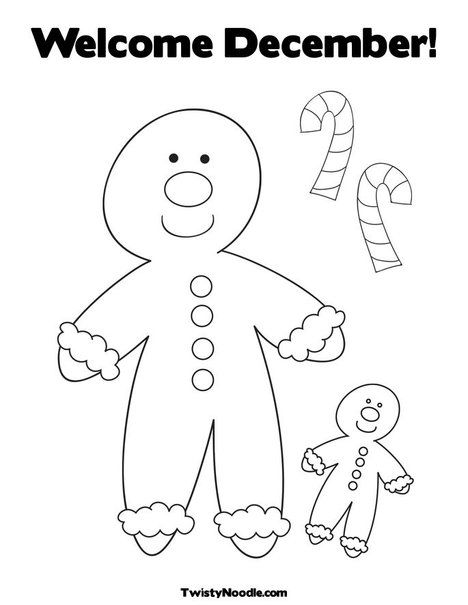 Gingerbread man coloring page   All Things Christmas   Pinterest