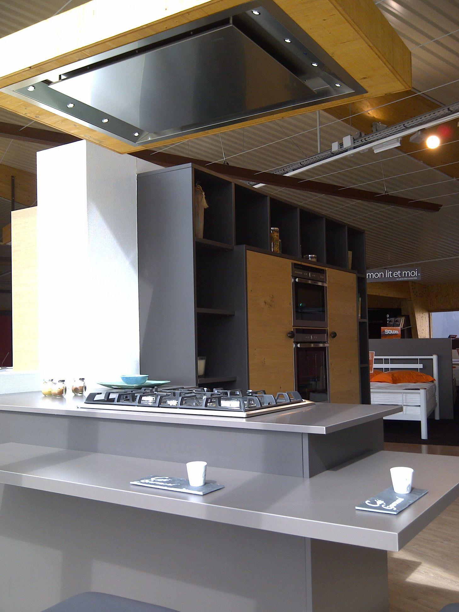 Campana extractora de techo pando e 220 cocinas con for Campana extractora de techo