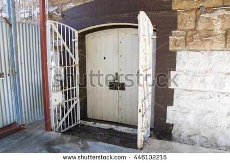 stock-photo-gated-door-exterior-at-fremantle-prison- & stock-photo-gated-door-exterior-at-fremantle-prison-in-fremantle ...