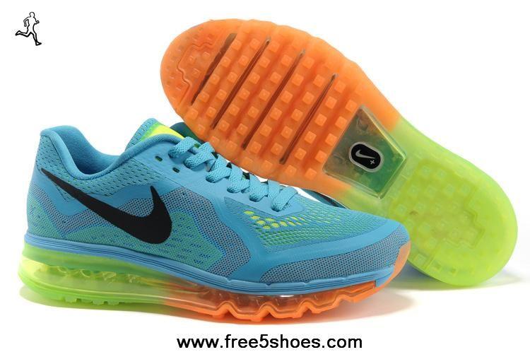 online retailer 52b74 ade11 Womens Nike Air Max 2014 621078-411 Blue Orange Black Shoes Fashion Shoes  Shop