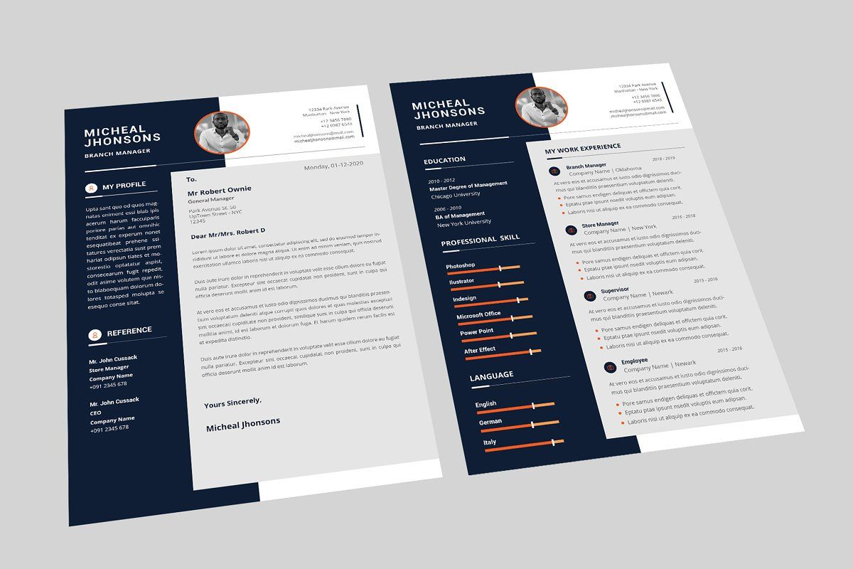 Branch Manager Resume Designer in 2020 Manager resume