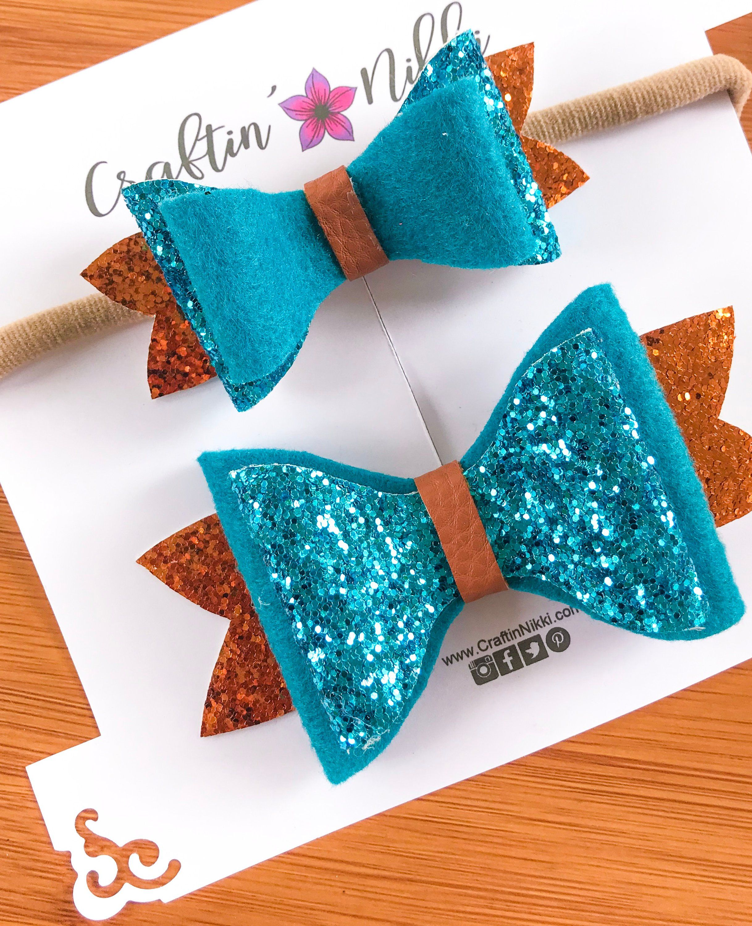 Brave Blue Bow Baby Headband Clothing, Shoes & Accessories Hair Accessories