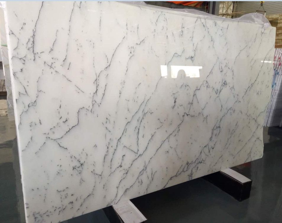 Bianco Carrara White Polished Marble Slabs Marble Slab Bianco
