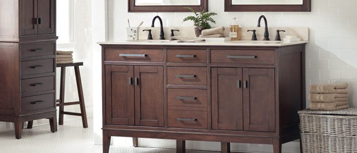 Bathroom Vanity Matching Cabinet That Takes The Place Of
