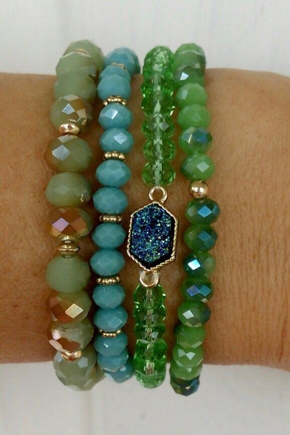 Photo of Bracelet Stack Bracelets For Women Bridesmaid Gift Crystal Druzy Dainty Jewelry Best Friend Gift Boho Jewelry Stacking Bracelet Set Cuff