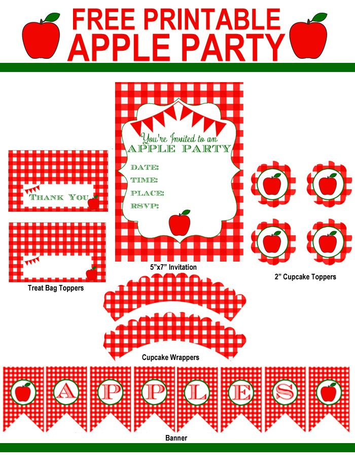 Throw An Apple Party This Fall With Complete Free Printable Pack Uncommon Designs