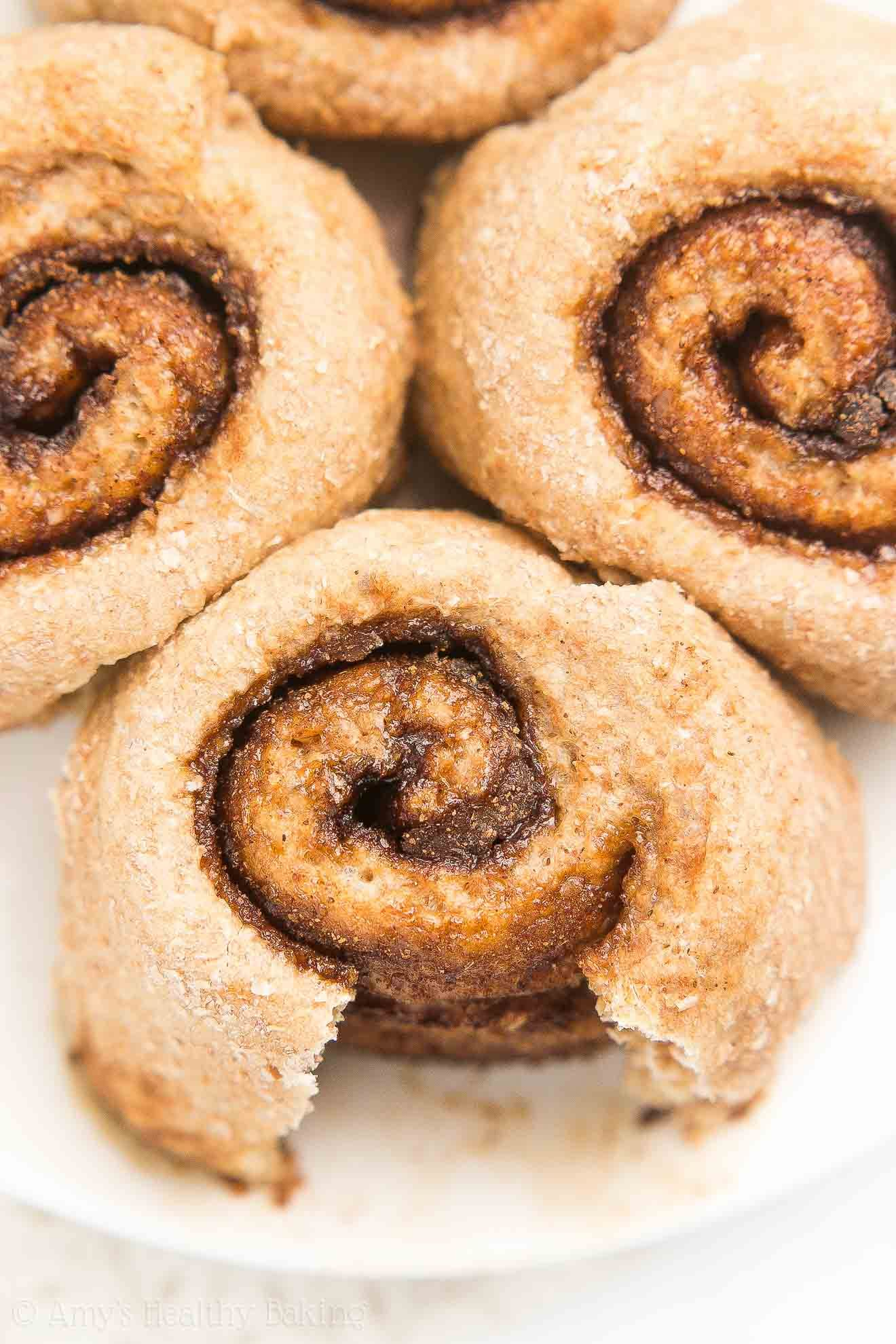 The Ultimate Healthy Mini Cinnamon Rolls Only 56 Calories Tender Dough Gooey Cinnamon Filling Pur Healthy Ice Cream Recipes Mini Cinnamon Rolls Recipes