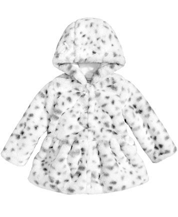 First Impressions Faux Fur Animal Print Jacket Baby Girls 0 24