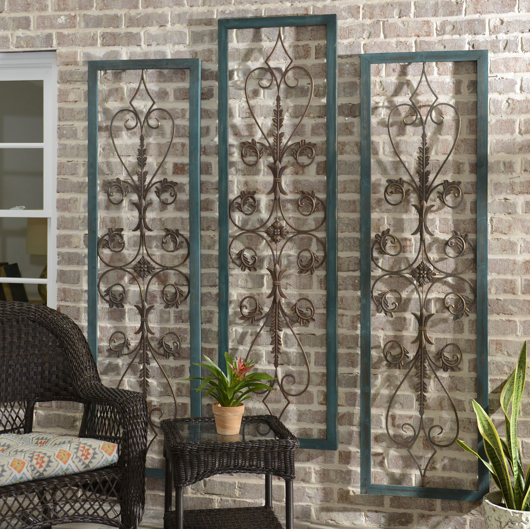 Wall Panels Look Even Better When You Use More Than One To Decorate A  Space! Outdoor WallsOutdoor DecorOutdoor ...