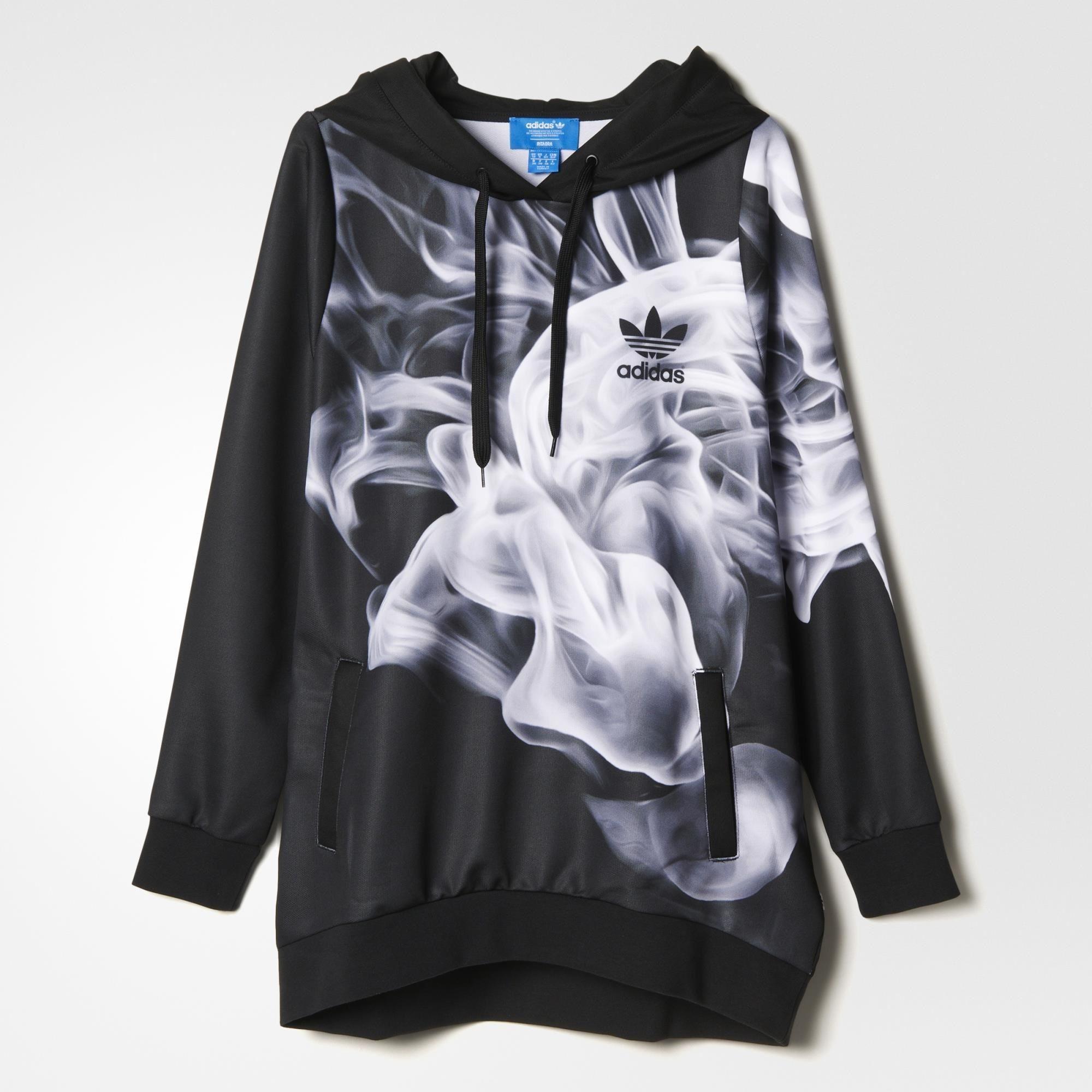 adidas - Chamarra con Gorro Originals White Smoke Rita Ora  3b959992b7f