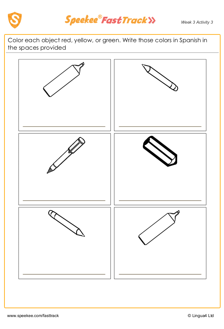 Coloring Worksheet Spanish For Kids Spanish Printables Color Worksheets Homeschool Spanish [ 1100 x 750 Pixel ]