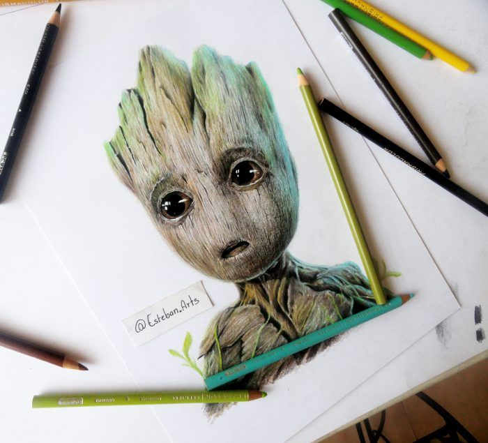 Drawing Baby Groot Guardians Of The Galaxy Drawing Ideas In 2019