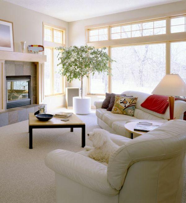 weißes-wohnzimmer-nach-feng-shui-einrichten - Die Wohnung nach - kreative ideen wohnzimmer
