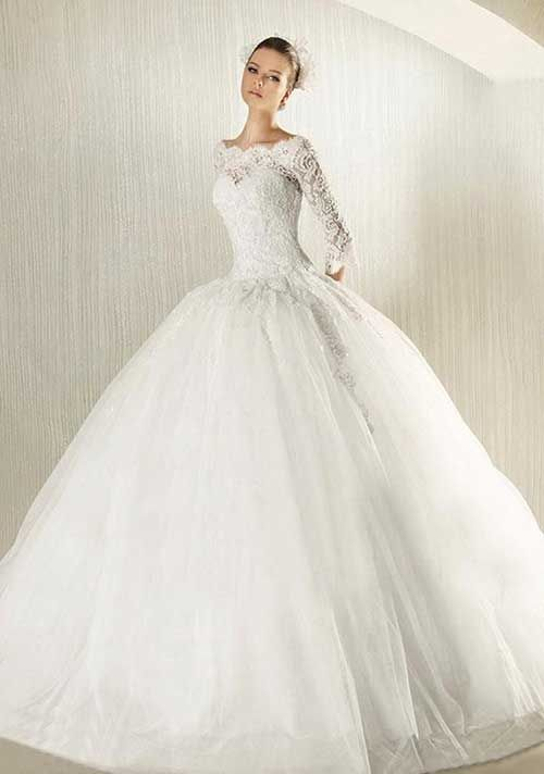 7a50c72947fa3 Kolları Dantelli Gelinlik Modeli | Fashion♡ | Gelinlik, Düğün ...