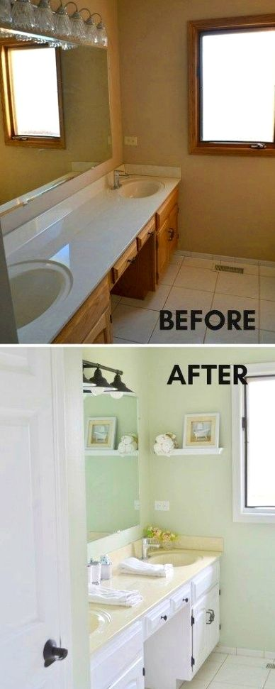 Bathroom Hacks Never Hesitate Permit Your Creative Juices Flow When You Are Painting An Inexpensive Bathroom Remodel Bathroom Makeover Small Bathroom Remodel