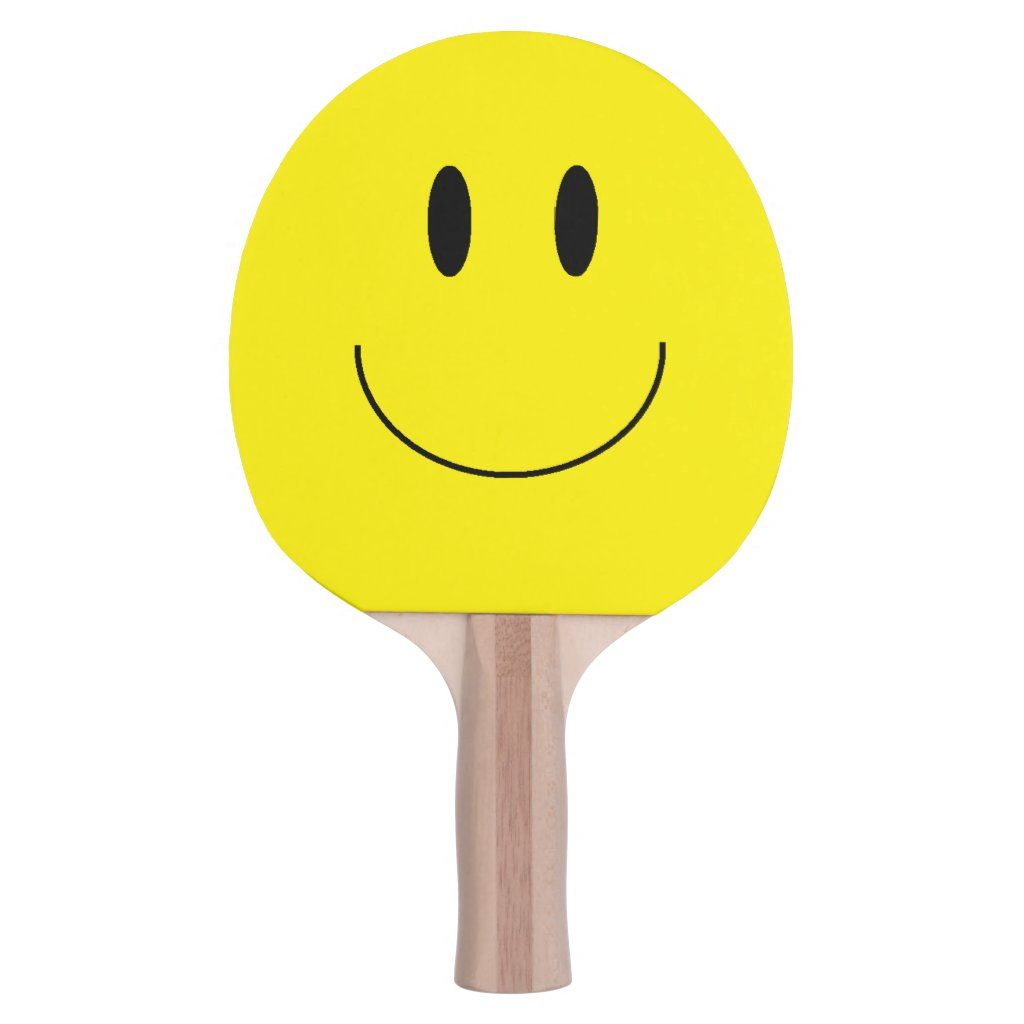 Happy Face Ping Pong Paddle Zazzle Com Ping Pong Paddles Ping Pong Happy Face