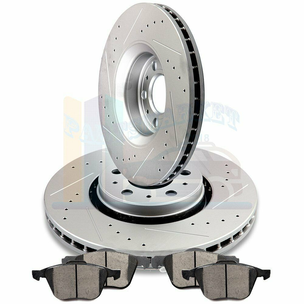 """2006 2007 2008 For Volvo XC90 Front Disc Brake Rotors and Pads w//16/"""" Whls"""