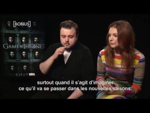 Hannah Murray & John Bradley about fans theories in Season 6 (VOSTFR) - YouTube