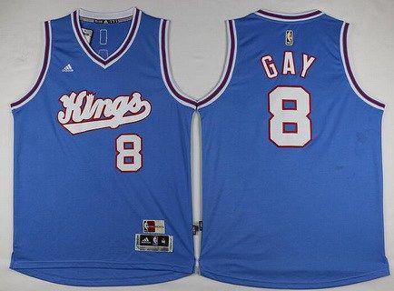 Men's Sacramento Kings #8 Rudy Gay Revolution 30 Swingman 2015-16 Blue Jersey