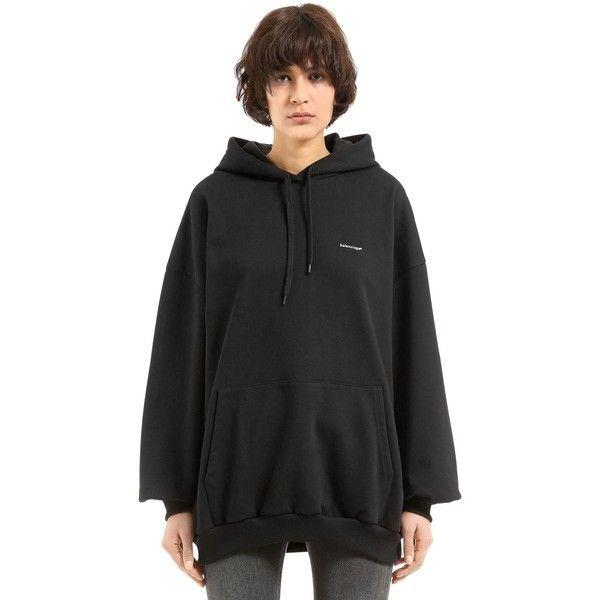balenciaga hoodie womens black