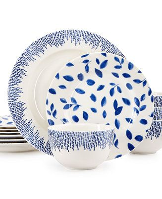 Martha Stewart Collection Stockholm Dinnerware Collection Set Service for Created for Macy\u0027s - White Dinnerware - Dining \u0026 Entertaining - Macy\u0027s  sc 1 st  Pinterest & Martha Stewart Collection Stockholm Dinnerware Collection 12-Pc. Set ...